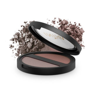 INIKA Organic Pressed Mineral Eye Shadow Duo – Choc Coffee