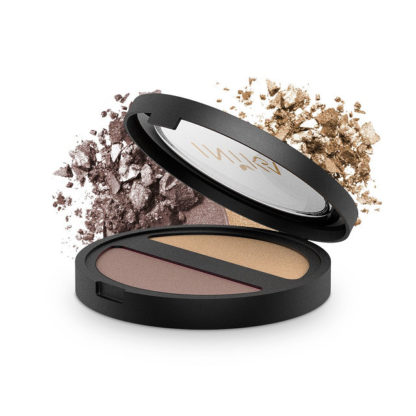 INIKA Organic Pressed Mineral Eye Shadow Duo – Gold Oyster