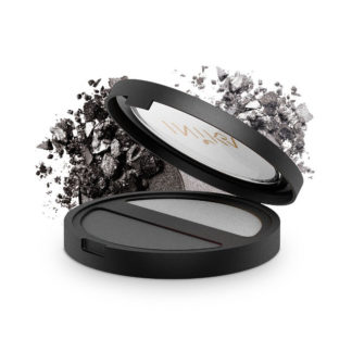 INIKA Organic Pressed Mineral Eye Shadow Duo – Platinum Steel