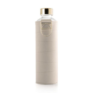 Equa Water Bottle - Mismatch Faux Leather Cover Beige 750 ml