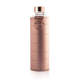 Equa Water Bottle - Mismatch Faux Leather Cover Bronze 750 ml