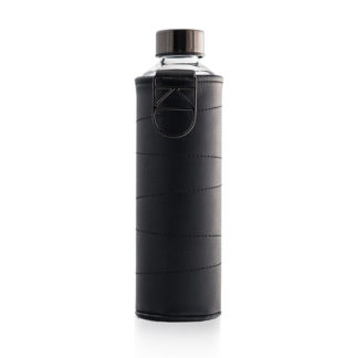 Equa Water Bottle - Mismatch Faux Leather Cover Graphite 750 ml